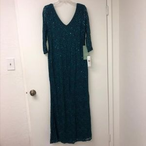 Blu Sage 3/4 Sleeve Evening Gown Size 14 NWT